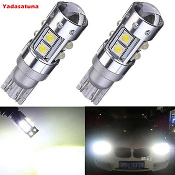 2 adet 50 w T10 W5W 501 194 Cree Cips Puissance elevee Bir Mene Lumiere Blanc Voiture Ters Ampul De kuyruk DRL