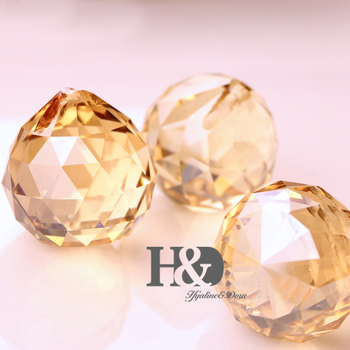 Wedding&Fengshui Products Champagne Home Decoration 108pcs/lot 30mm Crystal Chandelier Prisms Ball Parts