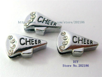 50 adet Taklidi Hoparlör 8mm Slayt Charms Fit 8mm Kemer Pet Yaka SL181