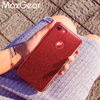 Bling Telefon Kılıfı iPhone X 5 5 S SE 6 6 S 7 8 Artı Cove 3 IN 1 Degrade Glitter Temizle PC + TPU Kılıflar iPhone 6 S 7 8 Artı Vaka