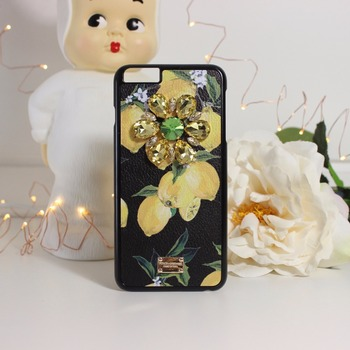 IPhone 7 7 Artı Lüks Diy aksesuarları Limon Desen PC telefon Kapak Kılıfları Apple iPhone 6 6 S 4.7/6 6 S Artı