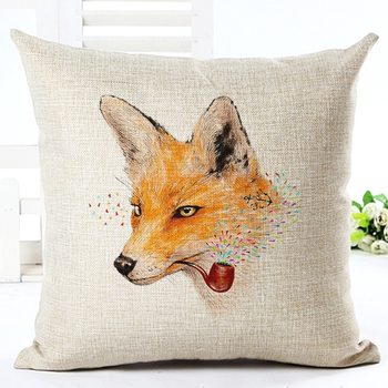 2017 New Animals Print Cushion cover Home Decor Decorative pillowcase Almofadas Cojines