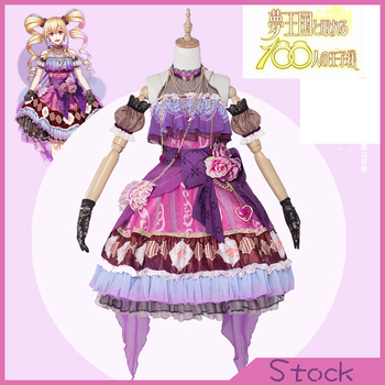 [Stok] anime yume 100 sp unawaken rakam toll mary parti dress cosplay kostüm balo tam set romantik prenses yeni 2017