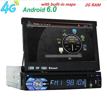 "7 ""Evrensel 1Din android6.0Car Ses DVD Oynatıcı + Radyo + GPS Navigasyon + Autoradio + Stereo + Bluetooth + PC + DVD Automotivo + SD USB RDS Aux"
