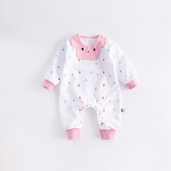 Cotton Cute Baby Rompers Cartoon Style Infant Boy Girl Jumpsuit Bib babies 0-24m Baby Wear Newborn Clothes Baby Kleding