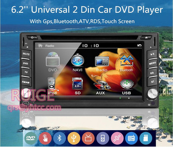 Yeni evrensel Bluetooth Araç dvd Stereo FM Radyo MP3 Audio Player Şarj USB/SD/AUX GPS oto Araba elektronik Subwoofer In-Dash