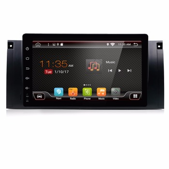 BMW E39 için Android 7.1 Araba DVD GPS Wifi 3G Quad 1024X600 Bluetooth