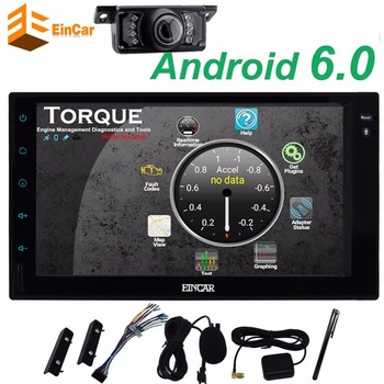 Android 6.0 Car Stereo with GPS Car Radio 2Din car tape recorder Headunit gps Navigation 1080P Video Microphone+Reversing Camera
